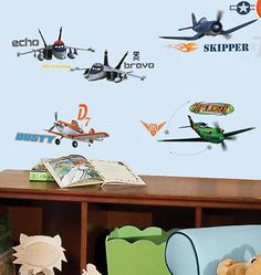 DISNEY PLANES wall stickers 43 decals Dusty Crophopper Skipper Riley airplanes