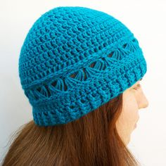 Broomstick lace crochet beanie hat by DaisyBeth, via Flickr
