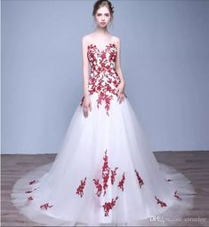 Discount 2017 Spring Summer Wedding Dress Red Lace Appliques Circelee A Line Princess Online Cheap Plus Size Bridal Gowns Amazing Wedding Dresses Wedding Dresses From China Weddings Dresses From Circelee, $120.66| Dhgate.Com