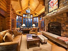 Cozy Lodge...makes me want hot chocolate and a fire!