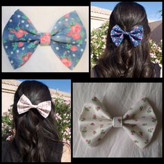 These florals are perfect for spring! To check them out in my Etsy shop Beauty, Brains & Bows! The link is in my description!