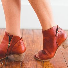 the Folk leather pee-toe bootie // by MATISSE // photo via @ascotandhart // available at http://www.matissefootwear.com/products/folk
