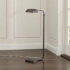 Theorem Patina Bronze Floor Lamp - Crate and Barrel Room Lamp, Desk Lamp, Table Lamp, Crate And Barrel, Floor Lamp Makeover, Rustic Floor Lamps, Bronze Floor Lamp, Adjustable Floor Lamp, Large Lamps