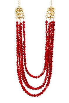 mariechavez Coral Multi-Strand Necklace by Non Specific on @HauteLook