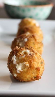 Smoked Gouda Fritters with Balsamic Honey Mustard Dipping Sauce   Yes to Yolks