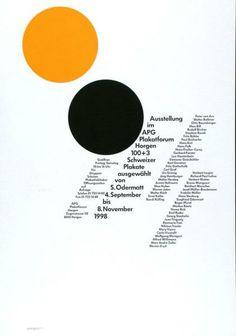 Siegfried Odermatt, Ausstellung im APG Plakatforum Horgen - 100+3 Schweizer Plakate ausgewählt von S. Odermatt