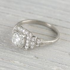 1.63 Carat Art Deco Vintage Engagement Ring   Vintage & Antique Engagement Rings   Erstwhile Jewelry Co NY