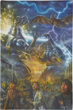 """Godzilla Vs Macha-Hodzilla 2 Poster, The Movie Means Godzilla Is Fighting Mecha G Numper 2 And It's Not A Movie That Continues """"Goji X Mecha G Film! Cool Monsters, Horror Monsters, Classic Monsters, Giant Monster Movies, Monster Board, Pokemon Dragon, Godzilla Wallpaper, Creature Feature, King Kong"""