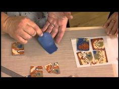 "Video - Julie Picarello shows how she does a Mokume Gane pendant with a ""lazy river"" insert.  #Polymer #Clay #Tutorials"