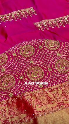 Black Blouse Designs, Hand Work Blouse Design, Simple Blouse Designs, Bridal Blouse Designs, Blouse Neck Designs, Simple Designs, Embroidery Neck Designs, Embroidery Works, Hand Embroidery