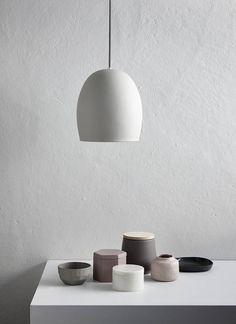 Grey Ceramic Pendant Light