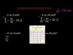Kuinka monta prosenttia joku luku on toisesta luvusta? - YouTube Periodic Table, Youtube, Mint, Periodic Table Chart, Periotic Table, Youtubers, Youtube Movies