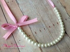 Make with pink ribbon (practice for wedding) Crazy Wedding, Wedding Stuff, Our Wedding, Dream Wedding, Wedding Ideas, Girl Hair Bows, Girls Bows, Bow Necklace, August Wedding