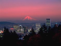 Portland, Oregon Is nice city - has a real laid back vibe.  I'd compare it to Madison only with Mountains not Lakes