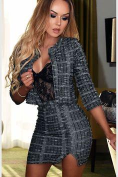 Τζάκετ κοντό μεταλιζέ - Γκρι. Winter Wear. Fashion e-Shop · Μπουφάν -Πανωφόρια 3dbc6c48233
