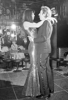 Jane Birkin dancing with Serge Gainsbourg, Paris, 1973