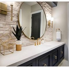 Great Bathroom Decor Ideas nailed it when they picked the perfect sconces by the Margeaux Collation. To see more of what Hinkley has to offer check them out on our website (link in bio).Read More Modern Bathroom Design Ideas Bathroom Renos, Bathroom Interior, Modern Bathroom, Washroom, Bathroom Ideas, Blue Bathroom Decor, Bohemian Bathroom, Mirror Bathroom, Interior Livingroom