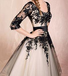New Tulle Sleeve Mid Calf Wedding Prom Dresses Cocktail Evening Gowns Custom | eBay $99.00 bid