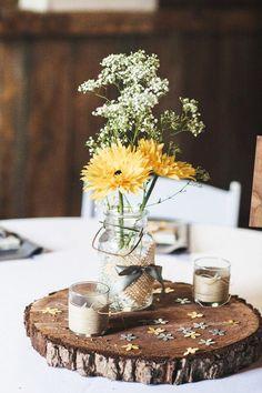 Top 14 Easy Wood Log Centerpiece Designs – Unique Wedding Day Decor Project - Easy Idea (4)