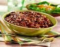 Chili - lean ground beef - white onion - 8 garlic cloves - green bell pepper - fresh Italian parsley - 3 jalapenos - red chili powder - cumin - low fat reduced sodium beef broth - 28 oz. can crushed tomatoes - 15 z. can kidney beans - 15 oz. chili beans - reduced fat cheddar cheese