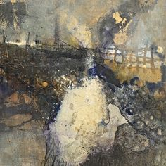 Venting II | Mixed media painting by abstract artist Lesley Clarke