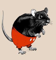 d5fcb4320 Rattus Americanus - art by Lopesco Classic T Shirts