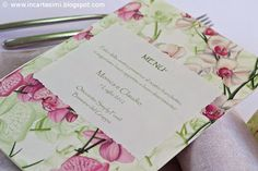 Portamenù carta Tassotti Orchidea