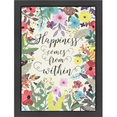 Happiness Comes From Within Framed Print
