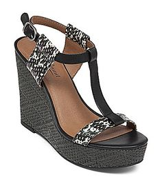 bd9e8c0e80d Lucky Brand T-Strap Platform Wedge Sandals - Lovell Printed Shoes - Sandals  - Bloomingdale s