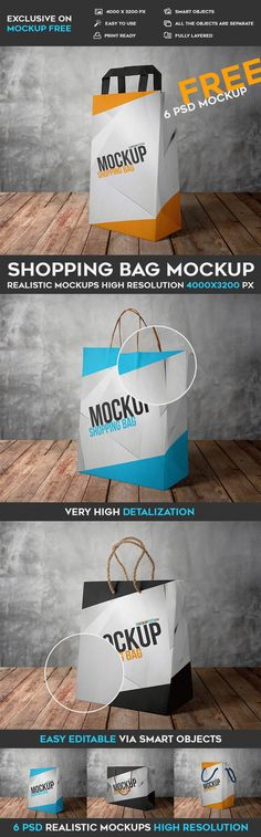 6 Free Shopping Bag PSD Mockups | Free PSD Templates | #free #photoshop #mockup #psd #shopping #bag Bag Mockup, Graphic Design Tips, Editorial Layout, Simple Bags, Free Prints, Presentation Design, Psd Templates, Design Projects, Shopping Bag