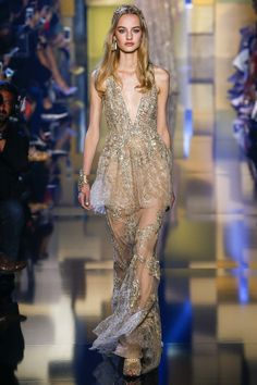Elie Saab Fall 2015 Couture Fashion Show Collection: See the complete Elie Saab Fall 2015 Couture collection. Look 1