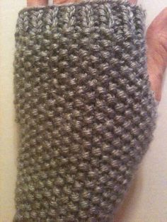 Hand Knit Fingerless Gloves in Grey Heather by GranasCorner, $15.00
