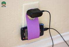 手机充电器立式机座、手机架 可以自己动手付教程哦╭★肉丁网