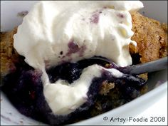 Artsy-Foodie: The Delightful Strangeness of Blueberry Pudding Cake