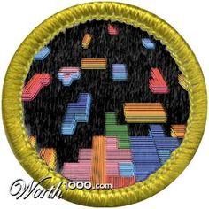 Tetris Badge - Real Life Merit Badge