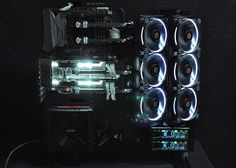 Thermaltake Core P5 modded watercooled black and white