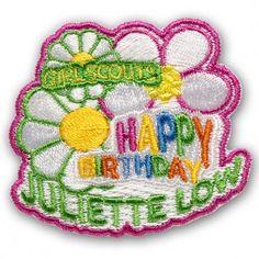 Happy Birthday Juliette Low Patch-Iron