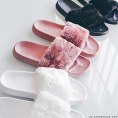 Simple & Trendy: The Best Sandals for Summer Sock Shoes, Cute Shoes, Me Too Shoes, Zapatos Shoes, Shoes Heels, Fuzzy Slides, Cute Slippers, Urban Fashion Trends, Nike Shies