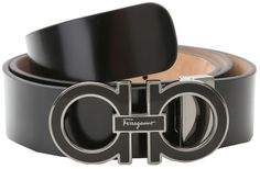 Salvatore Ferragamo Adjustable Shiny Lux (Nero) - Apparel on shopstyle.com