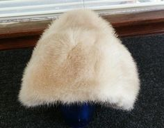 Vintage Ladies Fur Hat Holzman Furs Milwaukee, Wis. White in Clothing, Shoes & Accessories, Vintage, Vintage Accessories | eBay