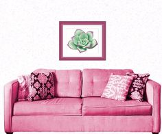 Succulent Plant Cross Stitch Pattern Modern Pattern Cactus | Etsy Purple Succulents, Planting Succulents, Cactus Cross Stitch, Dmc Floss, Different Fabrics, Green And Purple, Gifts For Mom, Cross Stitch Patterns, Love Seat