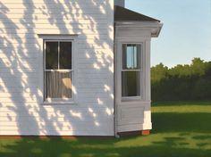 A Couture Life: Artist Jim Holland Edward Hopper, Deco Marine, Dappled Light, Illustration Art, Illustrations, Building Art, Bay Window, Architecture, Landscape Paintings