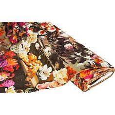 """Tissu jersey """"fleurs"""", multicolore   acheter en ligne sur buttinette - loisirs créatifs"""