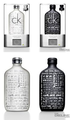 CK ONE Limited Edition bottle and speaker #packaging PD
