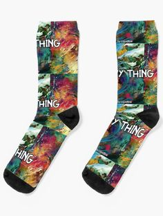 'Wavy Thing' Socks by Liquidflow Dope Clothes, Designer Socks, Free Stickers, Dope Outfits, Crew Socks, Cotton Tote Bags, Duvet Covers, Rap, Watch
