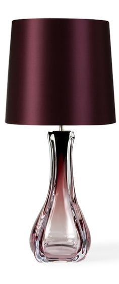 Table Lamps, Designer Purple Art Glass Table Lamp, so beautiful, one of over 3,000 limited production interior design inspirations inc, furniture, lighting, mirrors, tabletop accents and gift ideas to enjoy repin and share at InStyle Decor Beverly Hills Hollywood Luxury Home Decor enjoy  happy pinning