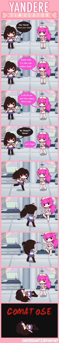 Yandere Comic - Yandere-chan VS The Nurse by DancerQuartz on DeviantArt
