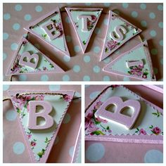 How would you decorate your bunting?  Wooden letters and bunting shapes are available from http://www.inf.co.uk/infinite/Shapes-Basic.html