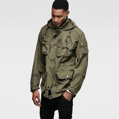 G-Star RAW | Men | ジャケット | Ospak Hooded Jacket , Forest Night