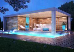 simple modern gazebo designs and plans Backyard pool simple Modern Pool House, Modern Gazebo, Modern Pools, Small Pool Houses, Modern Carport, Pool House Designs, Backyard Pool Designs, Swimming Pools Backyard, Pool Gazebo